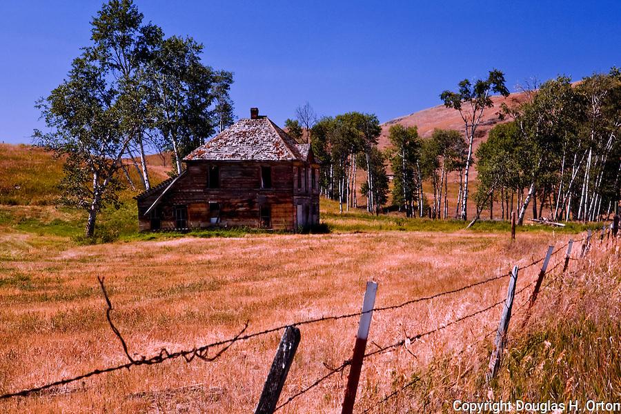 Near Cheesaw, Washington, this abandoned home sits alone on a still active ranch..Okanogan area.