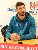 1st October 2019   Ulster Match Briefing<br /> <br /> Sam Carter during the Ulster Match Briefing ahead to their Sixth African tour at Gibson Park,  Belfast, Northern Ireland. Photo by John Dickson / DICKSONDIGITAL