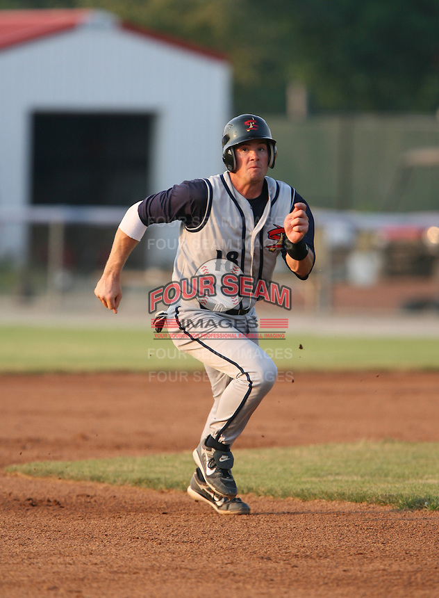 2007:  Nick Stillwagon of the State College Spikes runs to third during a game vs. the Batavia Muckdogs in New York-Penn League baseball action.  Photo By Mike Janes/Four Seam Images