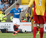 David Templeton scores the fourth goal of the match for Rangers
