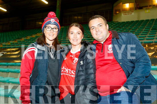 Timothy Moynihan, Saoirse O'Connor, Mike Foley and Timmy Moynihan at the Kerry County Senior Football Championship Final match between East Kerry and Mid Kerry at Austin Stack Park in Tralee on Saturday night.