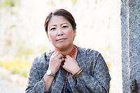 Sara Kim Fattorini è nata a Seul, in Corea del Sud, nel 1972. Adottata da una famiglia milanese, è cresciuta nel capoluogo lombardo. Festival di narrativa poliziesca. Monticelli Brianza, 18 ottobre 2020. Photo by Leonardo Cendamo/Getty Images