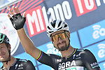 Peter Sagan (SVK) Bora-Hansgrohe at sign on before the start of the 101st edition of Milan-Turin 2020 running 198km from Mesero to Stupinigi (Nichelino), Italy. 5th August 2020.<br /> Picture: LaPresse/Fabio Ferrari | Cyclefile<br /> <br /> All photos usage must carry mandatory copyright credit (© Cyclefile | LaPresse/Fabio Ferrari)