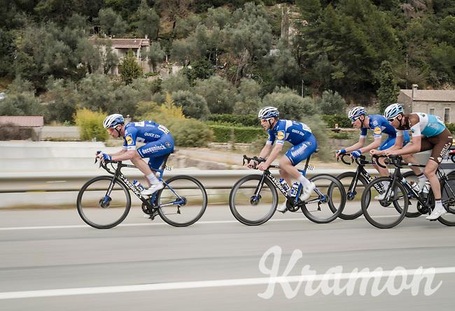 Team Deceuninck - Quick Step, Iljo Keisse up front, speeding up the peloton<br /> <br /> Stage 8: Nice to Nice (110km)<br /> 77th Paris - Nice 2019 (2.UWT)<br /> <br /> ©kramon