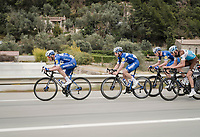 Team Deceuninck - Quick Step, Iljo Keisse up front, speeding up the peloton<br /> <br /> Stage 8: Nice to Nice (110km)<br /> 77th Paris - Nice 2019 (2.UWT)<br /> <br /> ©kramon