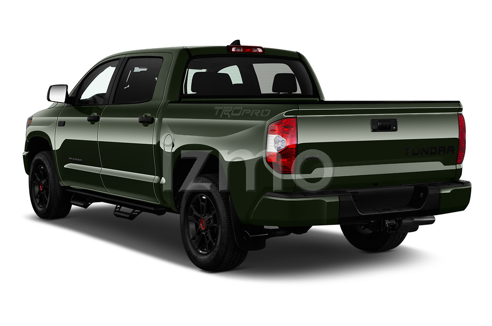 Car pictures of rear three quarter view of 2020 Toyota Tundra TRD-Pro 4 Door Pick-up Angular Rear