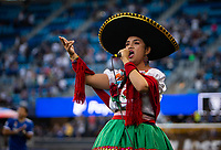 SAN JOSE, CA - SEPTEMBER 4: National anthem before a game between Colorado Rapids and San Jose Earthquakes at PayPal Park on September 4, 2021 in San Jose, California.