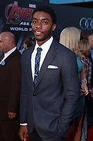 """LOS ANGELES - FEB 13:  Chadwick Boseman at the """"Avengers; Age Of Ultron"""" Los Angeles Premiere at the Dolby Theater on April 13, 2015 in Los Angeles, CA"""
