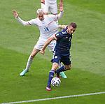 14.06.2021 Scotland v Czech Republic:  Stephen O'Donnell and Jakub Jankto