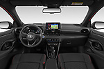 Stock photo of straight dashboard view of 2020 Toyota Yaris Premier 5 Door Hatchback Dashboard