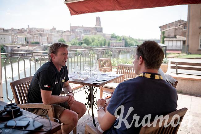 restday activities at Team Mitchelton-Scott<br /> <br /> Rest day 1<br /> 106th Tour de France 2019 (2.UWT)<br /> <br /> ©kramon