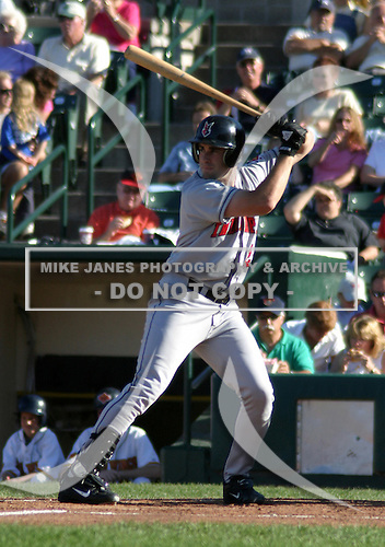 July 18, 2003:  Pete Zoccolillo of the Indianapolis Indians, Class-AAA affiliate of the Milwaukee Brewers, during an International League game at Frontier Field in Rochester, NY.  Photo by:  Mike Janes/Four Seam Images