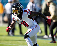 CHARLOTTE, NC - NOVEMBER 17: Julio Jones #11 of the Atlanta Falcons during a game between Atlanta Falcons and Carolina Panthers at Bank of America Stadium on November 17, 2019 in Charlotte, North Carolina.
