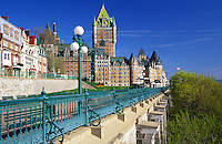 The Dufferin Terrace and the Chateau Frontenac