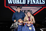 Kyleeann Fenn, Brady Fenn, during the Team Roping Back Number Presentation at the Junior World Finals. Photo by Andy Watson. Written permission must be obtained to use this photo in any manner.