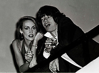 Jagger Hall6707.JPG<br /> New York, NY 1978 FILE PHOTO<br /> Mick Jagger Jerry Hall<br /> Studio 54<br /> Digital photo by Adam Scull-PHOTOlink.net<br /> ONE TIME REPRODUCTION RIGHTS ONLY<br /> NO WEBSITE USE WITHOUT AGREEMENT<br /> 718-487-4334-OFFICE  718-374-3733-FAX
