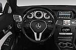Steering wheel view of a 2014 Mercedes E Class 350 Convertible