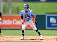 North Port Bobcats outfielder Ben Brown (18) during the 42nd Annual FACA All-Star Baseball Classic on June 6, 2021 at Joker Marchant Stadium in Lakeland, Florida.  (Mike Janes/Four Seam Images)
