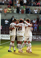 Pictured: (L-R) Ferrie Bodde, Federico Bessone and Àngel Rangel of Swansea City <br />