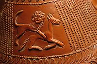 Europe/France/Auvergne/12/Aveyron/Millau: Le musée - Poteries Gallo-romaines de la Graufesenque - Lacènes décorées par Sabinus