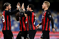 Milan players celebrate during the Serie A football match between SSC Napoli and AC Milan at San Paolo stadium in Naples (Italy), November 22th 2020. Photo Cesare Purini / Insidefoto