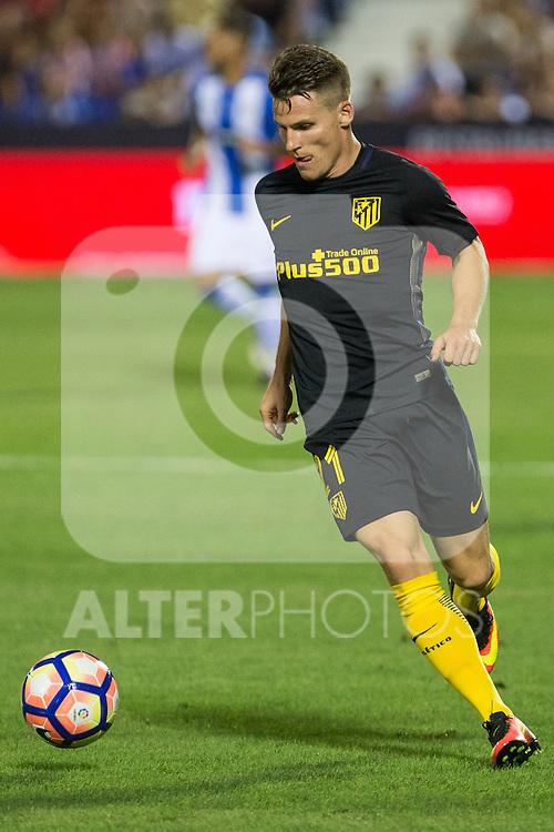 Atletico de Madrid's Kevin Gameiro during the match of La Liga between Club Deportivo Leganes and Atletico de Madrid at Butarque Estadium in Leganes. August 27, 2016. (ALTERPHOTOS/Rodrigo Jimenez)