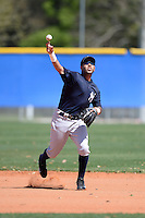 Shortstop Cito Culver (2) of the New York Yankees organization during practice before a minor league spring training game against the Toronto Blue Jays on March 16, 2014 at the Englebert Minor League Complex in Dunedin, Florida.  (Mike Janes/Four Seam Images)