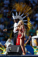 Shakira perform during the closing ceremony