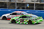 2017 Monster Energy NASCAR Cup Series<br /> Auto Club 400<br /> Auto Club Speedway, Fontana, CA USA<br /> Sunday 26 March 2017<br /> Denny Hamlin, Toyota Sport Clips Toyota Camry and Kyle Busch, Interstate Batteries Toyota Camry<br /> World Copyright: Nigel Kinrade/LAT Images<br /> ref: Digital Image 17FON1nk06177