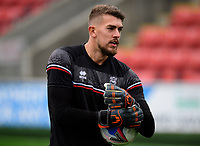 Lincoln City's Alex Palmer during the pre-match warm-up<br /> <br /> Photographer Chris Vaughan/CameraSport<br /> <br /> The EFL Sky Bet League One - Fleetwood Town v Lincoln City - Saturday 17th October 2020 - Highbury Stadium - Fleetwood<br /> <br /> World Copyright © 2020 CameraSport. All rights reserved. 43 Linden Ave. Countesthorpe. Leicester. England. LE8 5PG - Tel: +44 (0) 116 277 4147 - admin@camerasport.com - www.camerasport.com