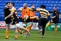 Photo: Richard Lane/Richard Lane Photography. Wasps Captains Run ahead of their game against Saracens in the European Champions Cup Semi Final at the Madejski Stadium. 21/04/2016. James Haskell.