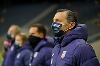 SOLNA, SWEDEN - APRIL 10: Vlatko Andonovski head coach of the United States before a game between Sweden and USWNT at Friends Arena on April 10, 2021 in Solna, Sweden.