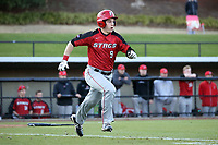 GREENSBORO, NC - FEBRUARY 25: Matt Venuto #9 of Fairfield University runs to first base during a game between Fairfield and UNC Greensboro at UNCG Baseball Stadium on February 25, 2020 in Greensboro, North Carolina.
