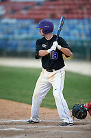 Niagara University Purple Eagles shortstop Greg Cullen (18) at bat during a game against the Ohio State Buckeyes on February 20, 2016 at Holman Stadium at Historic Dodgertown in Vero Beach, Florida.  Ohio State defeated Niagara 10-7.  (Mike Janes/Four Seam Images)