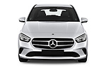 Car photography straight front view of a 2019 Mercedes Benz B-Class - 5 Door Mini Mpv Front View