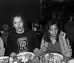 RED CANZIAN E ASHA PUTHLI<br /> RISTORANTE MATRICIANO ROMA 1978