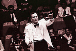 Dallas Symphony Orchestra music conductor and composer Eduardo Mata conducts during a concert on June 11, 1991 at the Sala Nezahualcoyotl of the National Autonomous University of Mexico. Mata was one of the most important directors in Mexico. Photo by Heriberto Rodriguez