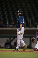 AZL Brewers center fielder Micah Bello (3) at bat during an Arizona League game against the AZL Cubs 1 at Sloan Park on June 29, 2018 in Mesa, Arizona. The AZL Cubs 1 defeated the AZL Brewers 7-1. (Zachary Lucy/Four Seam Images)