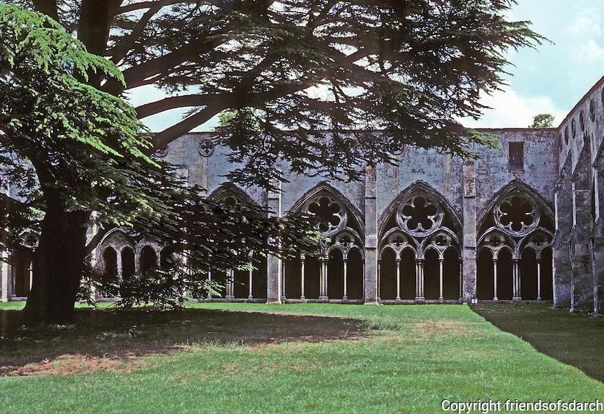 Salisbury: Salisbury Cathedral--Cloinsters. Photo '90.