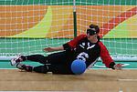 Blair Nesbitt, Rio 2016 - Goalball.<br /> Canadian men play Sweden in goalball // Les hommes canadiens affrontent la Suède au goalball. 13/09/2016.