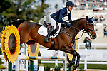 October 17, 2021: Dani Sussman (USA), aboard Jos Bravio, competes during the Stadium Jumping Final at the 3* level during the Maryland Five-Star at the Fair Hill Special Event Zone in Fair Hill, Maryland on October 17, 2021. Jon Durr/Eclipse Sportswire/CSM