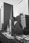 Pittsburgh PA:  The First English Evangelical Lutheran Church has served Pittsburgh since its founding in 1837. The First Lutheran Church is located in downtown Pittsburgh.  The Alcoa and  H.K. Porter buildings are in the background.