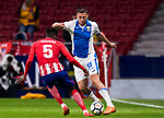 Gabriel Appelt Pires (R) of CD Leganes is tackled by Thomas Teye Partey of Atletico de Madrid during the La Liga 2017-18 match between Atletico de Madrid and CD Leganes at Wanda Metropolitano on February 28 2018 in Madrid, Spain. Photo by Diego Souto / Power Sport Images