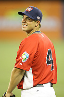 March 6, 2009:  Third baseman David Wright (4) of Team USA during the first round of the World Baseball Classic at the Rogers Centre in Toronto, Ontario, Canada.  Team USA defeated Canada 6-5 in both teams opening game of the tournament.  Photo by:  Mike Janes/Four Seam Images