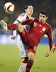 Spain's Alvaro Morata (r) and Germany's Rudy during international friendly match.November 18,2014. (ALTERPHOTOS/Acero)