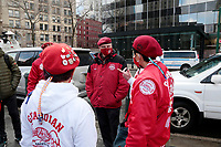 NEW YORK, NEW YORK- FEBRUARY 27, 2021: Media Personality Curtis Silwa, Founder, the Guardian Angels and New York City Mayoral Candidate attends the American Asian Federation's Anti-Asian Hate Rally held at Foley Square/Federal Plaza in the lower Manhattan section of New York City on February 27, 2021.  Photo Credit: mpi43/MediaPunclh