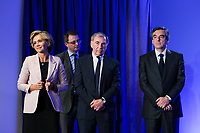 VALERIE PECRESSE, THIERRY MARIANI, FRANCOIS FILLON, RENCONTRE AVEC LES ULTRAMARINS A PARIS, FRANCE, LE 29/03/2017.