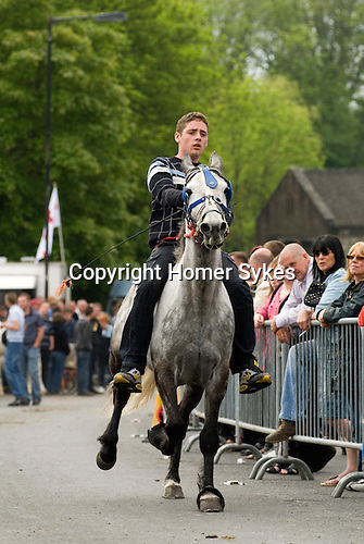 Gypsy annual Horse Fair. Wickham Hampshire UK.