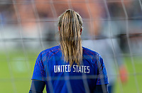 HOUSTON, TX - FEBRUARY 03: Alyssa Naeher #1 of the United States warms up during a game between Costa Rica and USWNT at BBVA Stadium on February 03, 2020 in Houston, Texas.