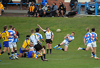Action from the Wellington 1st XV Tranzit Coachlines premiership secondary schools rugby union match between St Patrick's College Silverstream and Rongotai College at Silverstream in Wellington, New Zealand on Saturday, 29 August 2020. Photo: Dave Lintott / lintottphoto.co.nz